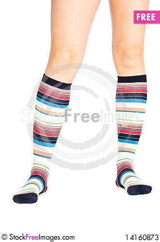 Free Oman Legs In Colorful Socks Stock Photos - 14160873