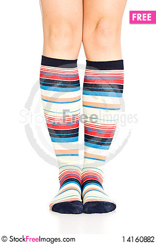 Free Oman Legs In Colorful Socks Stock Photography - 14160882