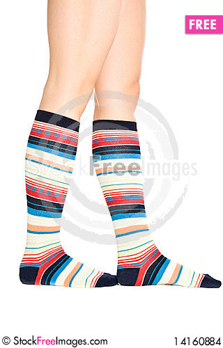 Free Oman Legs In Colorful Socks Stock Images - 14160884