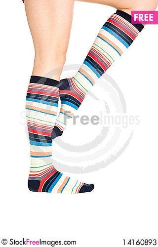Free Oman Legs In Colorful Socks Stock Photos - 14160893