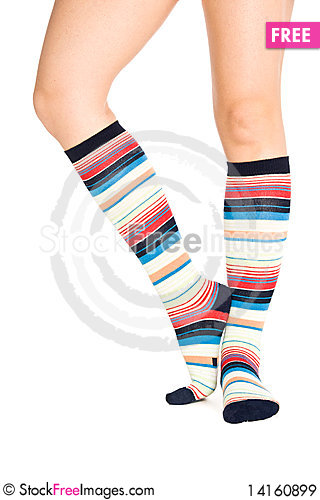 Free Oman Legs In Colorful Socks Royalty Free Stock Images - 14160899