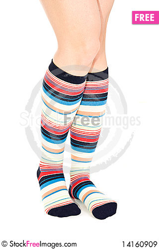 Free Oman Legs In Colorful Socks Royalty Free Stock Images - 14160909