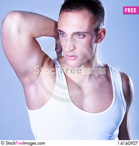 Free A Trendy European Man Dressed In Undershirt Royalty Free Stock Photography - 14160927