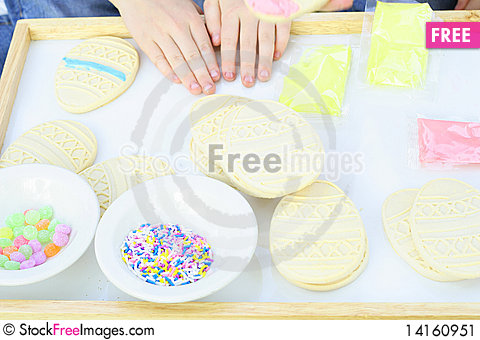 Free Cookies, Icing And Sprinkles Stock Image - 14160951
