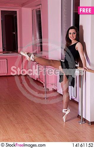 Free Adorable  Ballet Girl In Dance Studio Stock Photography - 14161152