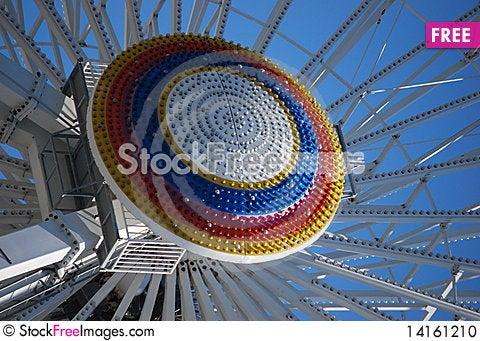 Free Rainbow Circle On A Ferris Wheel Ride Stock Photo - 14161210