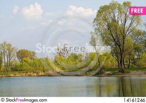 Free Spring Landscape Royalty Free Stock Image - 14161246