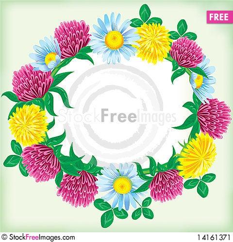 Free Wreath Of Flowers Stock Image - 14161371