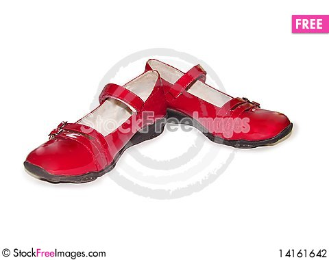 Free Woman S Red Shoes Stock Photography - 14161642