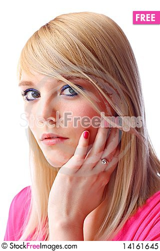 Free Beautiful Young Blond Woman Royalty Free Stock Photo - 14161645