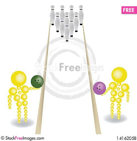 Free Game In Bowling Royalty Free Stock Photos - 14162058