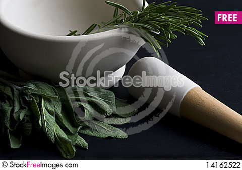 Free Mortar And Pestle Stock Photography - 14162522