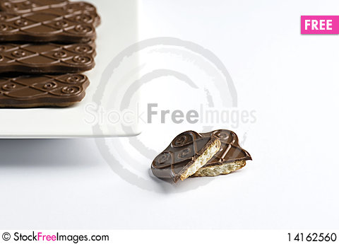 Free Chocolate Biscuits Stock Photo - 14162560
