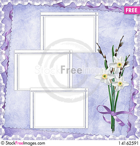 Free Card For Holiday With Flowers Stock Image - 14162591