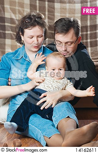 Free Happy Family. Stock Image - 14162611