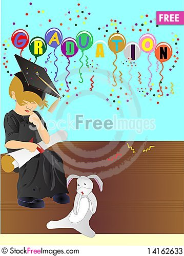 Free Graduating Of Upper Class, With Honours... Stock Photos - 14162633