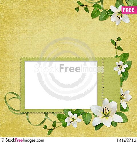Free Card For The Holiday  With Flowers Stock Photos - 14162713