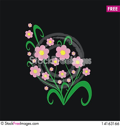 Free Floral Elements Royalty Free Stock Image - 14163166