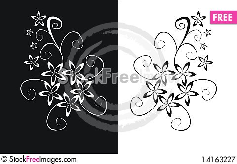 Free Floral Elements Royalty Free Stock Photography - 14163227