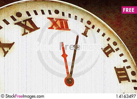 Free Old Clock Royalty Free Stock Photography - 14163497