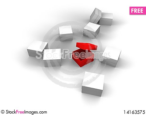 Free Present Box In Red 3d Royalty Free Stock Photo - 14163575