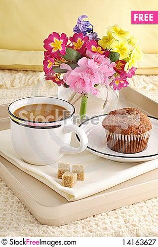 Free Breakfast Tray Royalty Free Stock Photography - 14163627