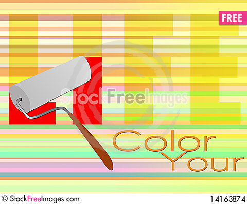 Free Color Your Life Poster Stock Images - 14163874