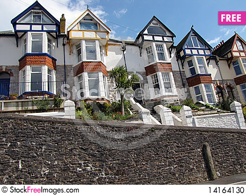 Free Colourful Houses In-line Stock Photo - 14164130