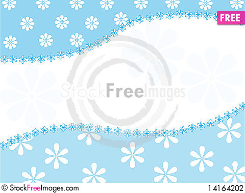 Free Vector Background With A Floral Pattern Stock Photography - 14164202