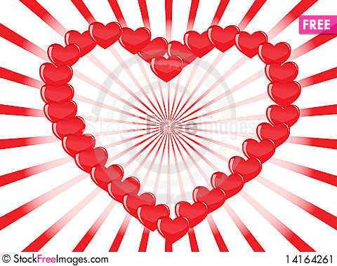 Free Vector Heart Background Stock Image - 14164261
