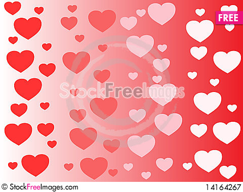 Free Vector Heart Background Royalty Free Stock Photography - 14164267