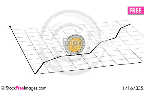 Free Rolling Coin And Diagram Royalty Free Stock Photo - 14164335
