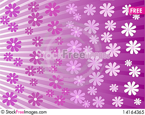 Free Vector Beautiful Background With Flower Royalty Free Stock Photo - 14164365