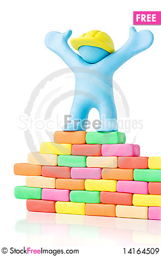 Free Successful Builder. Copy Space Royalty Free Stock Images - 14164509