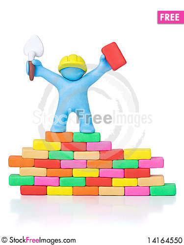 Free Happy Builder Building. Clipping Path Stock Photo - 14164550