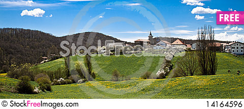 Free A Small Village In The Spanish Pyrenees Called Biz Royalty Free Stock Image - 14164596