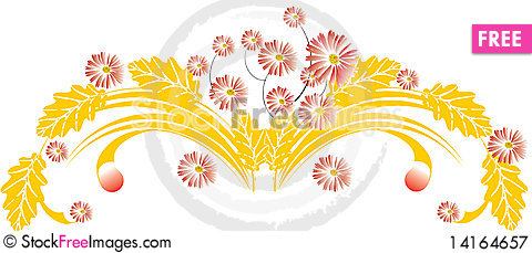 Free Abstract Floral Background Royalty Free Stock Photography - 14164657