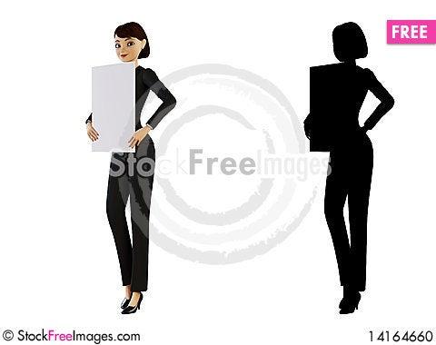 Free Businesswoman And White Panel Stock Photo - 14164660