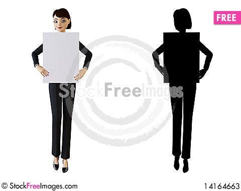 Free Businesswoman And White Panel Stock Photos - 14164663