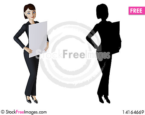 Free Businesswoman And White Panel Royalty Free Stock Images - 14164669