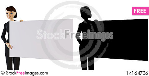 Free Businesswoman And White Panel Royalty Free Stock Image - 14164736