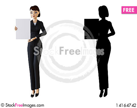 Free Businesswoman And White Panel Stock Photography - 14164742