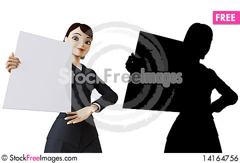 Free Businesswoman And White Panel Royalty Free Stock Image - 14164756