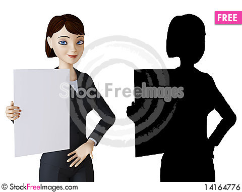Free Businesswoman And White Panel Royalty Free Stock Image - 14164776