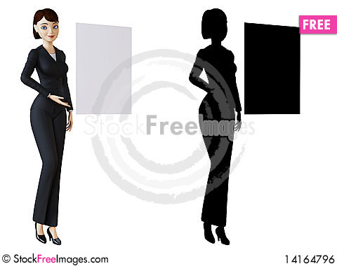 Free Businesswoman And White Panel Royalty Free Stock Image - 14164796