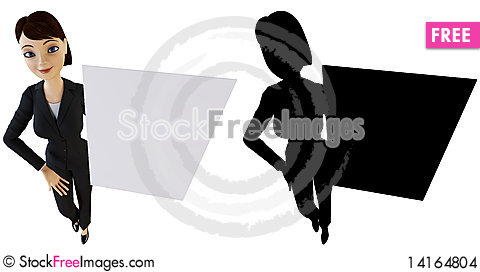 Free Businesswoman And White Panel Stock Images - 14164804