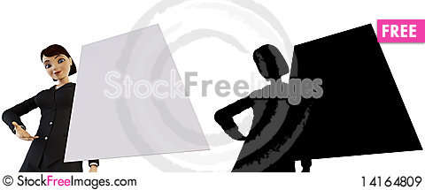 Free Businesswoman And White Panel Royalty Free Stock Images - 14164809