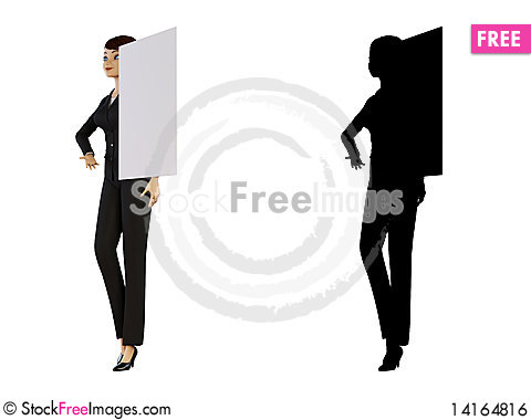 Free Businesswoman And White Panel Royalty Free Stock Image - 14164816