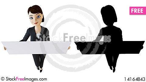 Free Businesswoman And White Panel Stock Photos - 14164843