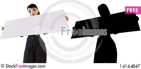 Free Businesswoman And White Panel Royalty Free Stock Photography - 14164847
